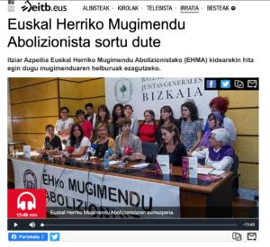 Euskal Herriko Mugimendu Abolizionista sortu dute